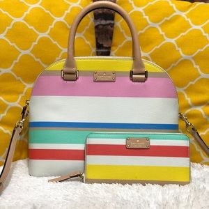 🌸OFFERS?🌸Kate Spade All Leather Stripe Set
